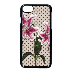 Vintage Flowers Apple Iphone 7 Seamless Case (black) by Valentinaart
