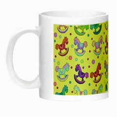 Toys Pattern Night Luminous Mugs by Valentinaart