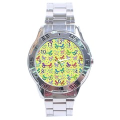 Toys Pattern Stainless Steel Analogue Watch by Valentinaart