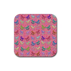 Toys Pattern Rubber Coaster (square)  by Valentinaart