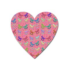 Toys Pattern Heart Magnet by Valentinaart