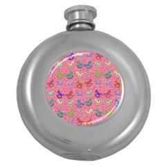 Toys Pattern Round Hip Flask (5 Oz) by Valentinaart