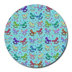 Toys Pattern Round Mousepads by Valentinaart