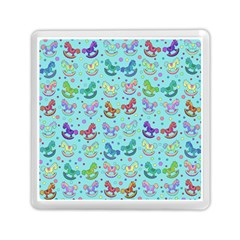Toys Pattern Memory Card Reader (square)  by Valentinaart