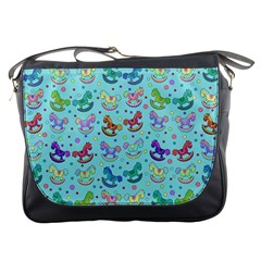 Toys Pattern Messenger Bags by Valentinaart
