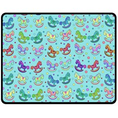 Toys Pattern Double Sided Fleece Blanket (medium)  by Valentinaart