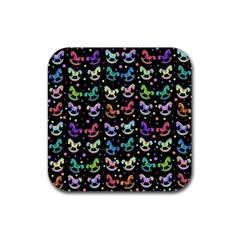 Toys Pattern Rubber Square Coaster (4 Pack)  by Valentinaart