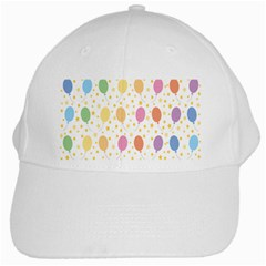 Balloon Star Rainbow White Cap by Mariart