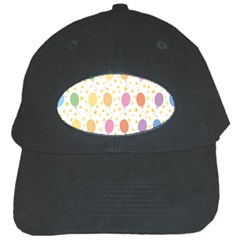 Balloon Star Rainbow Black Cap by Mariart