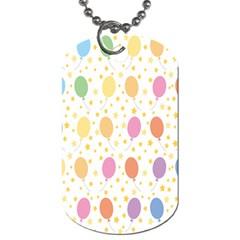 Balloon Star Rainbow Dog Tag (two Sides)