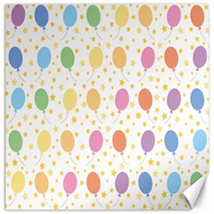 Balloon Star Rainbow Canvas 16  X 16   by Mariart