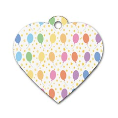 Balloon Star Rainbow Dog Tag Heart (two Sides)