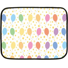Balloon Star Rainbow Double Sided Fleece Blanket (mini)