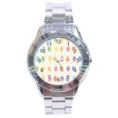 Balloon Star Rainbow Stainless Steel Analogue Watch by Mariart
