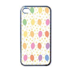 Balloon Star Rainbow Apple Iphone 4 Case (black) by Mariart