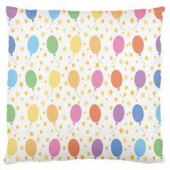 Balloon Star Rainbow Large Cushion Case (two Sides) by Mariart