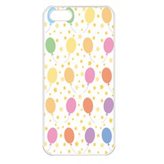 Balloon Star Rainbow Apple Iphone 5 Seamless Case (white) by Mariart