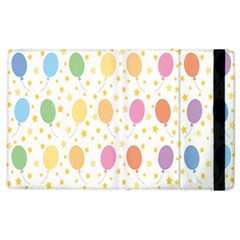 Balloon Star Rainbow Apple Ipad 3/4 Flip Case by Mariart