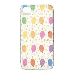Balloon Star Rainbow Apple Iphone 4/4s Hardshell Case With Stand by Mariart