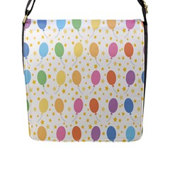 Balloon Star Rainbow Flap Messenger Bag (l)