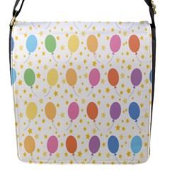 Balloon Star Rainbow Flap Messenger Bag (s)