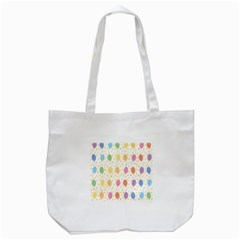 Balloon Star Rainbow Tote Bag (white)