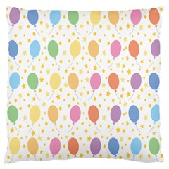 Balloon Star Rainbow Large Flano Cushion Case (one Side)