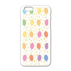 Balloon Star Rainbow Apple Iphone 6/6s White Enamel Case