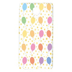 Balloon Star Rainbow Galaxy Note 4 Back Case by Mariart