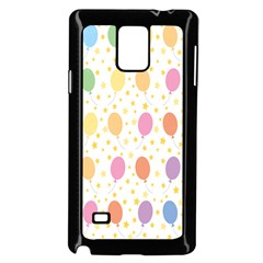 Balloon Star Rainbow Samsung Galaxy Note 4 Case (black)