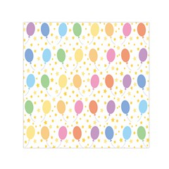 Balloon Star Rainbow Small Satin Scarf (square) by Mariart
