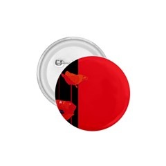 Flower Floral Red Back Sakura 1 75  Buttons by Mariart