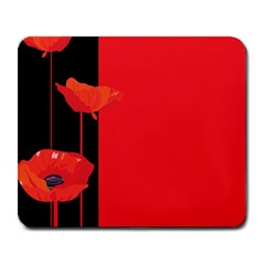 Flower Floral Red Back Sakura Large Mousepads by Mariart