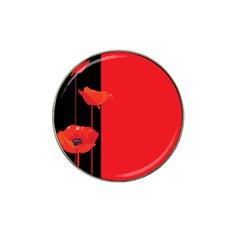 Flower Floral Red Back Sakura Hat Clip Ball Marker (4 Pack) by Mariart