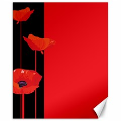 Flower Floral Red Back Sakura Canvas 16  X 20   by Mariart
