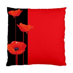 Flower Floral Red Back Sakura Standard Cushion Case (one Side) by Mariart