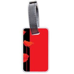 Flower Floral Red Back Sakura Luggage Tags (two Sides)