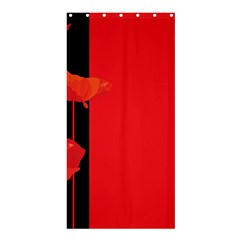 Flower Floral Red Back Sakura Shower Curtain 36  X 72  (stall)  by Mariart