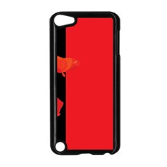 Flower Floral Red Back Sakura Apple Ipod Touch 5 Case (black) by Mariart