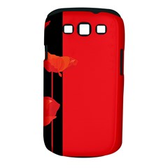 Flower Floral Red Back Sakura Samsung Galaxy S Iii Classic Hardshell Case (pc+silicone) by Mariart