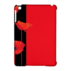 Flower Floral Red Back Sakura Apple Ipad Mini Hardshell Case (compatible With Smart Cover)