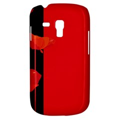 Flower Floral Red Back Sakura Galaxy S3 Mini by Mariart