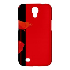 Flower Floral Red Back Sakura Samsung Galaxy Mega 6 3  I9200 Hardshell Case