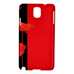 Flower Floral Red Back Sakura Samsung Galaxy Note 3 N9005 Hardshell Case by Mariart