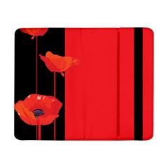 Flower Floral Red Back Sakura Samsung Galaxy Tab Pro 8 4  Flip Case by Mariart
