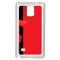 Flower Floral Red Back Sakura Samsung Galaxy Note 4 Case (white)