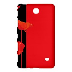 Flower Floral Red Back Sakura Samsung Galaxy Tab 4 (7 ) Hardshell Case