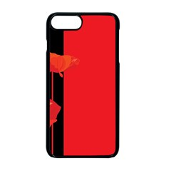 Flower Floral Red Back Sakura Apple Iphone 7 Plus Seamless Case (black)
