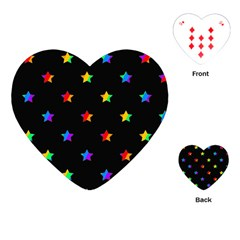 Stars Pattern Playing Cards (heart)  by Valentinaart