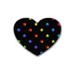 Stars Pattern Heart Coaster (4 Pack)  by Valentinaart